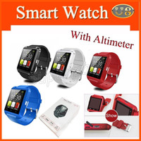 Cheap U8 Inteligent Wristwatch Smart Watch écran tactile Bluetooth Watch pour iPhone Android Smart Smart Phone Smart Watch avec Altimeter 5pcs