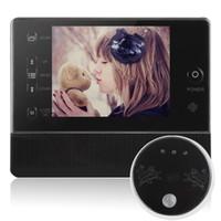 Wholesale Digital Video Door Viewer Peephole - 3.5 Inch LCD Screen Digital Door Peephole Viewer with Doorbell & Video Recording 120 wide degree angles viewing
