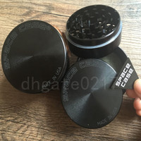 Wholesale Grinding Cnc - 63mm 4pc CNC grinder Aluminum space case Grinder tobacco smoke cigarette detector grinding smoke Tobacco grinder VS sharpstone grinder