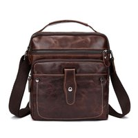Sac fourre-tout homme de haute qualité Sac à dos de luxe en cuir véritable Business Soft Casual Cross Body Shoulder Bag Wholesale