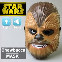Wholesale Zorn toys Star Wars The Force Awakens Chewbacca Electronic Mask cosplay masks sound and light Boy toys Halloween