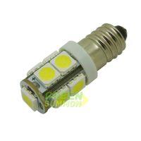 Wholesale Led Screw Light Lamp - E10 EY10 T3.25 9-SMD 5050 LED White 3000K 6000K Lights Miniature Screw Bulb lamp for DIY LIONEL DC 12V