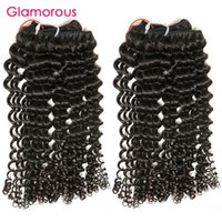 Glamorous Cambodgian Human Hair 100% Virgin Hair Weave 3 Bundles Serré Curly Mongolian Indian Brazilian Hair Hair Extensions Wholesale
