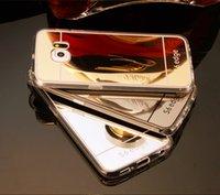 Wholesale Galaxy S4 Mirror - Electroplating Mirror case TPU Clear Soft Back Phone Case Cover for Samsung Galaxy S4 5 6 edge edge S7 edge plus Note 5 4 A8