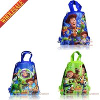 Wholesale Wholesale Leather Toys - 3Pcs Toy Story Cartoon Drawstring Backpack Kids School Bags,Multipurpose Bags,Kids Party Favor,Free Shipping