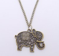 Wholesale Elephant Necklace Retro - FREE SHIPPING Hot Sale Alloy Retro Elephant Necklace,N1900
