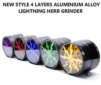 Wholesale Alloy Stock - (In Stock) - Original Herb Grinders Aluminium Alloy Grinders With Clear Top Window lighting grinder 4 Pieces Grinder VS Sharpstone Grinders