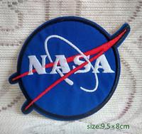 logo bordado remendos venda por atacado-EUA NASA Logo Space Programme Vector Cap Jersey Jaqueta de Ferro no Bordado remendo Presente camisa saco calças casaco Colete Individualidade