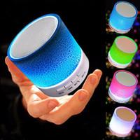 bluetooth adapter für hallo fi großhandel-LED tragbare mini bluetooth lautsprecher lautsprecher drahtlose intelligente freisprecheinrichtung lautsprecher mit fm radio unterstützung sd karte für iphone samsung a9