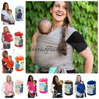 Wholesale Wrap Infant Carrier - Fedex DHL Free Multifunctional Infant Breastfeed Sling Baby Stretchy baby Wrap Carrier Backpack Bag kids Breastfeeding Cotton Hipseat Z287-B