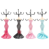 Wholesale Dress Jewelry Stands - Multifunction Jewelry Earring Necklace Display Mannequin Dress Lady Figure Stand Holder