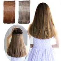 95g haarverlängerungen großhandel-Sara Straight Clip in Haarverlängerung Weben 50 cm, 22