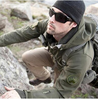 Wholesale Wool Military Jacket - Upgraded Lurker Shark skin Soft Shell TAD V 5.0 Military Tactical Jacket Waterproof Windproof Army bomber jacket Clothing Quality Assurance