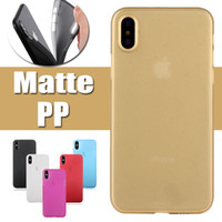 Wholesale Camera Skin - For iPhone X 0.3mm Protection Camera Full Slim Colorful Soft PP Transparent Clear Matte Frosted Cover Case Skin For iPhone X 8 7 Plus 6S 6