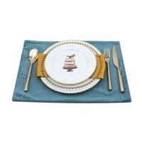 Wholesale White Ceramic Dinnerware - Livingware Piece Dinnerware Set ceramics Pui Yue House white 4 Piece Dinnerware Set Western style cutlery Service for 1