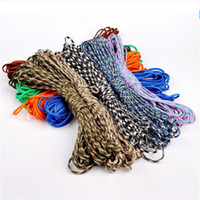 Wholesale Rock Lanyards - 100FT(31m) Paracord 550 Paracord Parachute Cord Lanyard Rope Mil Spec Type III 7Strand For Climbing Camping Buckles Bracelet