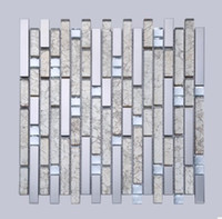 Wholesale Chinese style background wall mosaic stainless steel crystal glass mosaic metal glass genuine mosaic D