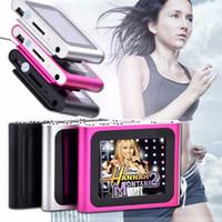 joueur de jeu tactile achat en gros de-8GB 6ème génération Clip numérique MP4 Player numérique 1,8 pouces écran tactile FM Radio Video Music Mp3 Jeux E-Book Photo R-661 livraison gratuite