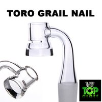 Wholesale Slit Bottom - New Toro Graile Quartz Banger Nails With Slit High Air Flow, with 5mm Thick Bottom, holds heat for much longer.