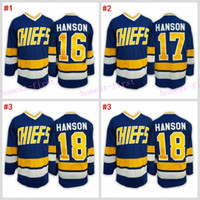 Wholesale Men Winter Jack - #16 Jack HANSON Hanson brothers Charlestown jersey Blue 2016 Hockey Jerseys Ice Winter Home Away Jersey Stitched Drop Shipping