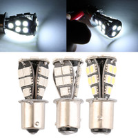 Wholesale 1156 Canbus Yellow - 1156 21 SMD BA15d led car bulbs canbus No Error py21w Lamp External Lights Car Light Source 12V Red White Yellow