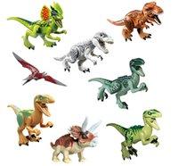 Wholesale Pterosaur Dinosaur - World Dinosaur Minifig Tyrannosaurus Pterosaur Horned Dinosaur Jurassic World Dinosaurs Figures Building Block Figure Toys boys gifts
