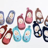 Wholesale Socks Animals Doll - Socks children skid floor socks baby socks winter baby socks Baby Kids Clothing three - dimensional cartoon doll 782