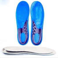Wholesale Family Massages - 2016 New damping insole soft contact sport silicone massaging gel shoes insole men size 8-12 women:6-10
