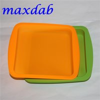 "Wholesale oil stocks prices - Wholesale Factory Price Silicone Square Deep Dish Round Pan 8.5"" Nonstick silicone container concentrate Oil BHO silicon tray"