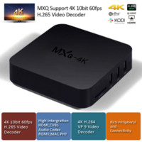 MXQ-4K TV Box Quad Core 1.5GHZ Cortex-A7 Smart TV Box KODI 15,2 Apoio 10bit 60fps H.265 Video Decoder HDMI PK MXQ M8S