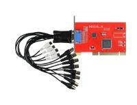 Wholesale H 264 Capture Card - 8CH H.264 240FPS Hybrid PCI Video Capture DVR Card Security CCTV Surveillance