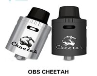 Wholesale Cigarro Metal - cigarro eletrônico authentic OBS Cheetah RDA Rebuildable Tank RDA Cheetah With Huge Vapor e cigarette atomizer
