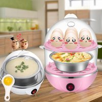 Wholesale cooking tools resale online - Multi function Electric Egg Cooker for up to Eggs Double Layer Cooker Boiler Steamer Cooking Tools Kitchen Utensil