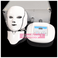 Wholesale Light Machine For Face - Newest Design! 2016 Hotting Led Light Therapy Skin Care Photon Light Therapy Machine Led Facial Mask for Face and Neck Massage