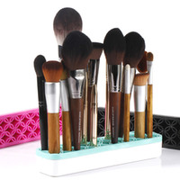 Wholesale Eco Friendly Makeup Brushes Wholesale - Silicone Makeup Brush Holder Cosmetic Organizer Drying Rack Shelf Makeup Brush Display Stand for Beauty Brushes Pencil Eyeliner Storage