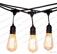 Wholesale Office Foot - NEW Vintage Edision Outdoor Commercial String Lights with Nostalgic Edison Bulbs - 48 Feet String Light with 15 Heavy Duty Molded MYY