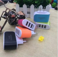 Wholesale Iphone Wall Car Eu - US EU Plug 3 USB Wall Chargers 5V 3.1A LED Adapter Travel Convenient Power Adaptor with triple USB Ports For Mobile Phone
