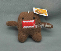 Wholesale Domo Kun Plush Keychain - Free Shipping EMS Domo Kun Plush Doll Toy Keychain 3.5 Plush Doll Stuffed Toy For Children Gift New