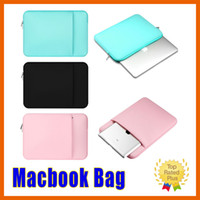 Wholesale Laptop Cases Bags 14 Inch - Laptop Sleeve Case Bag Apple Samsung Tablet Soft inside Bag for Macbook pro air 11 12 13 15 15.6 inch High Quality