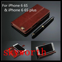 Wholesale Leather Case Galaxy Core - Flip Wallet Leather Case Stand Card Slot for Samsung Galaxy S4 S5 Mini S6 Edge Core Plus G3500 G357 G313H Note 3 4