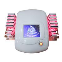 dioden-lipo-laser 14-pads großhandel-14 pads diode fettabsaugung laser maschine für gewichtsverlust lipo laser abnehmen maschine