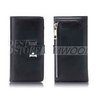 Wholesale Photo Frame Case - Wallet Case For iPhone 6 7 Plus 2 In 1 PU Leather Cover Pouch Card Slot Photo Frame With Zipper