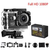 câmera de esporte hdmi venda por atacado-Mais barato Cópia SJ4000 1080 P Full HD HDMI Mini Câmera de Ação com Tela LCD de 2 polegadas 30 Metros Impermeável DV Capacete Câmeras Esporte Presente
