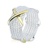 925 maschenringe großhandel-Rellecona hochwertige Schmuck Freimaurer Ring Frauen Somerset Mesh Design Ring X Element 925 Sterling Silber Ring