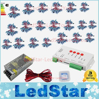 Wholesale Addressable Controller - Hot Sale 12mm WS2811 led Pixel Module IP68 RGB diffused addressable for letter sign DC 5V + T1000S Controller + Power adapter