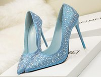 Frauen Sexy Peep Toe Lace Crystal Party Schuhe Mode Hollow Platform Bowtie Pumps 2018 Neue weibliche elegante 10cm Bottom High Heels Sandalen
