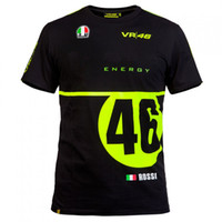 Barato Médico 46-2016 Novo MOTOGP The Doctor T-shirt Luna Rossi VR 46 T-Shirt Summer Motorcycle T-Shirt Casual Sports T-shirts