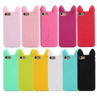 Wholesale Koko Cat Case - For Iphone 7 iphone7 plus 3D Candy Soft Silicone Gel Case Colorful Back Cover KOKO Cat Cartoon Style For Iphone 5 6S Plus