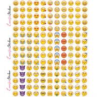 çocuk resimleri toptan satış-660 Adet Emoji Yüz Çıkartmaları Çıkarılabilir Çıkartması Mural Ev Dekor Emoji Dizüstü Dizüstü Facebook Tiwtter Için Gülümseme Sticker Çocuk Hediyeler WX-S13