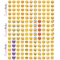 Wholesale Wholesale Murals - 660 Pcs Emoji Face Stickers Removable Decal Mural Home Decor Emoji Smile Sticker For Laptop Notebook Facebook Tiwtter Children Gifts WX-S13